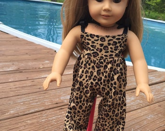 "American Girl or 18"" doll cheetah jumpsuit"