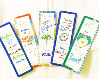 Set of Bookmarks with Quotes from Children's Books