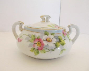 Hand Painted Nippon Handled Sugar Bowl ca 1892-1930