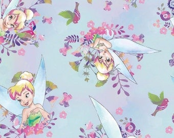 Disney Tinkerbell Watercolor Fabric From Springs Creative