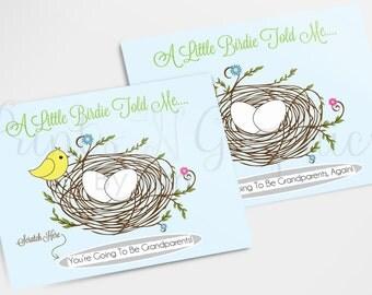 Pregnancy Reveal Scratch Off Cards, Pregnancy Reveal For Dads, Grandparents, Grandma, Grandpa, Aunts, Uncles; Creative Pregnancy Reveal Idea