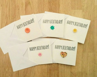 Pack of 5 cute handmade Happy Birthday cards
