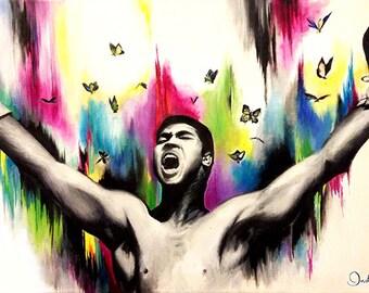 Muhammad Ali Oil painting Print