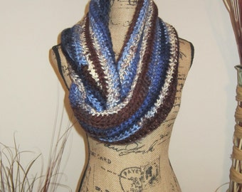 Blue/Brown Infinity Scarf