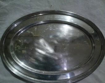 1889 BSCER large silver plated oval serving tray 2521 18