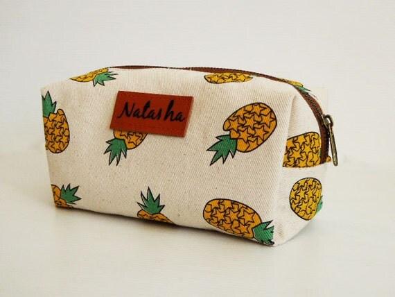 monogram bagpencil case pineapple pencil bagmonogram