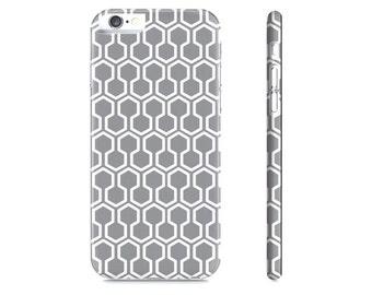 Honeycomb iPhone Case - Gray iPhone Case - Geometric iPhone 6 Case - Geometric iPhone Case - The Mad Case