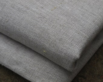 Natural Light Grey Linen and  Cotton Fabric