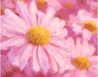 Cottage Decor, Flower Wall Art, Daisy Picture, Cottage Wall art, Cottage Decorating, Art for Cottage, Flower Art, Cottage Chic Decorating.