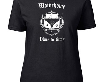 MOTORHOME- Place to Stay- Heavy Metal Camper Parody Women's T-Shirt From FatCuckoo FTS1585