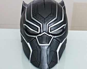 1:1 Scale Halloween Costume Cosplay Movie Prop, Civil War Black Panther Helmet Mask #511