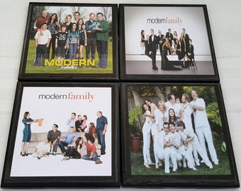 Modern Family Ceramic Tile Drink Coasters / Modern Family Drink Coasters