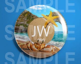 JW.org A Warm Beach Pin
