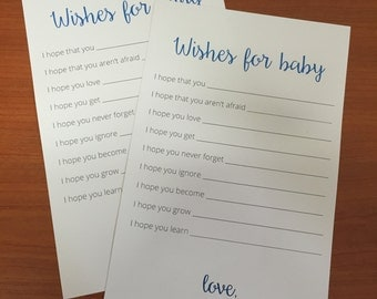 Printable Baby shower game - Wishes for baby