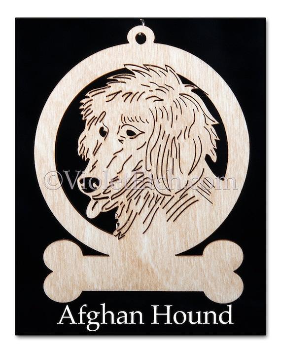 Afghan Hound Ornament-Afghan Hound Gift-Free Personalization