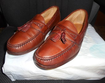 "Vintage ""Allen Edmonds"" Brown Leather Tassel Loafers Sz: 10.5D"
