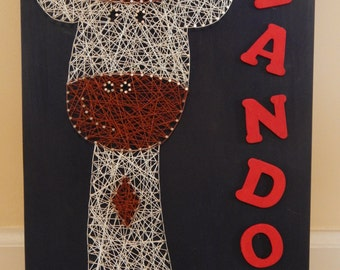 "Giraffe w/ Name String Art- 12""x18"""