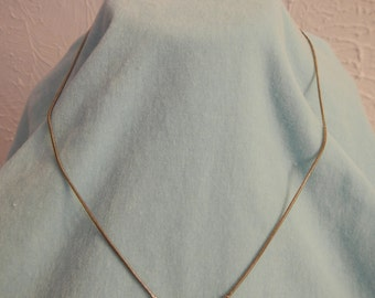 Emerald Shape Green Pendant on a Chain, Vintage