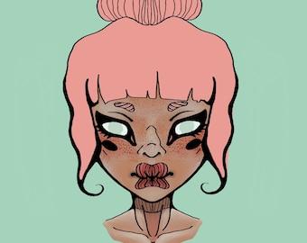 Pink Hair, Clear Eyes