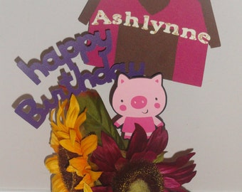 Barnyard Birthday Centerpiece