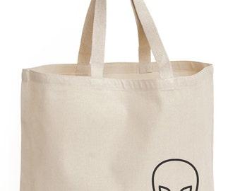YUGEN Alien Canvas Tote Bag
