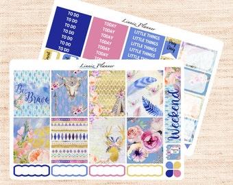 Be Brave Little Weekly Set (matte planner sticker, fits perfect in Erin Condren Life Planner Vertical)