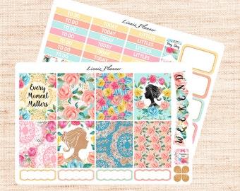 LaMarquise Little Weekly Set (matte planner sticker, fits perfect in Erin Condren Life Planner Vertical)