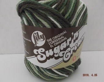 Lily Sugar N Cream Cotton Variegated Yarn ~ Colour Warm Breeze Ombre ~ #4 Medium Worsted ~