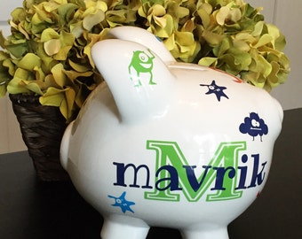 Personalized Custom Large Piggy Bank