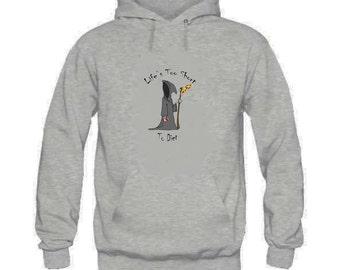 Grim diet hoodie lifes too short food death funny