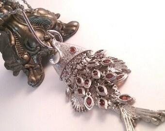 HUGE Chunky Vintage Fish Necklace