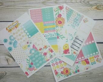 Spring bloom-eclp weekly kit-planner sticker set