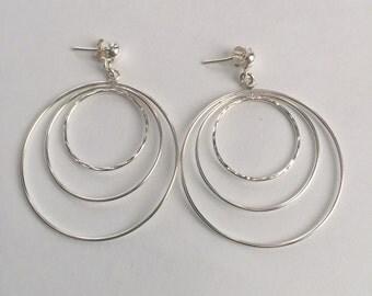 925 Sterling Silver Hanging Hoop Earring
