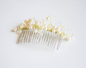 Pearl bridal hair comb || Wedding accessory || 004