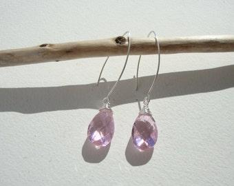 Long earrings in the shape of drop(gout), ethnic, smart, pink boho
