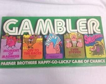 Gambler Vintage Board Game 1977 Complete Parker Brothers