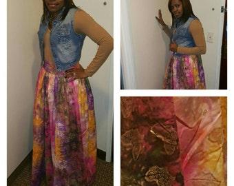 African high waist skirt