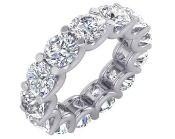 7 Carat Diamond Eternity Band, 7 Carat Eternity Ring in 18k White gold. 7 Carat Diamond Ring, 7 Carat Wedding Band