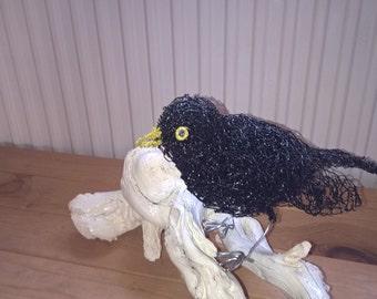 Wire Sculpture Blackbird