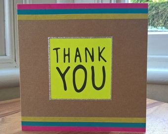 Neon Thank you card