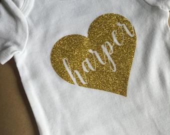 Baby Girl Onesie, Personalized Onesie, baby onesie, baby gift, baby girl clothes, personalized