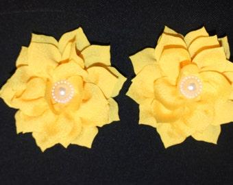 Pearl Lotus Barefoot Sandal Set (Yellow)