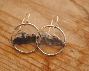 Mountain Range Earrings | Sterling Silver