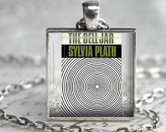The Bell Jar Book Necklace Book Jewelry Sylvia Plath Necklace Literary Gift Book Lover Gift Teacher Appreciation Gift Literature Novel