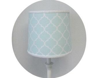 Nursery Quatrefoil fabric ~ Lamp Shade (4 colors)