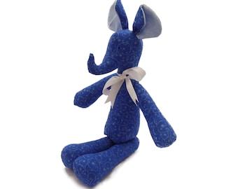 Handmade elephant. Cotton elephant. Stuffed elephant. Exclusively Handmade elephant. Fabric elephant. Toy elephant