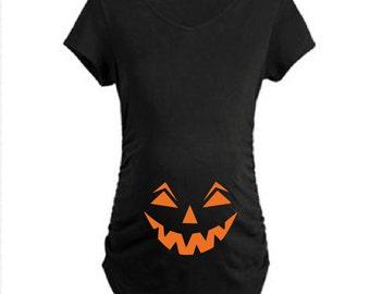 Pumpkin Halloween Shirt. Halloween Pregnancy Shirt. Pregnancy Halloween Costume. Pregnancy Announcement Shirt. Halloween Maternity Shirt.