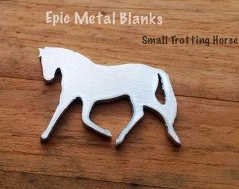 Small Trotting Horse Aluminium Blank, Horse Stamping Blank,Metal Stamping, Horse, Aluminum Blanks, Horse jewellery, aluminium Horse Blank