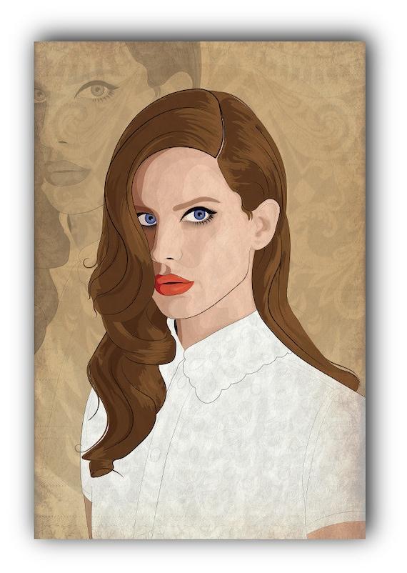 lana del rey art print - photo #16