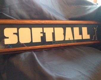Softball photo mat and frame